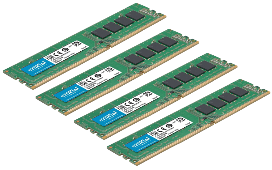 128GB DDR4-2666 RAM (four 32gb sticks)