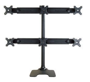 2x Six-Monitor Desk Stand (holds monitors 27
