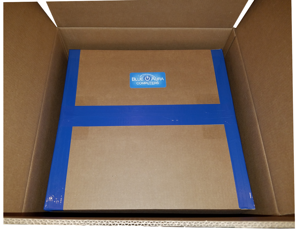 Blue Aura Computers Shipping Box