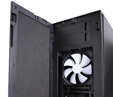 Fractal Design R5 Black Silent Case Front View Door Open